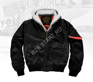 Бомбер 7,26 MA-1 Flight Jacket Черный