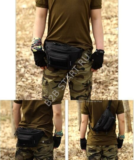 Сумка поясная Tactical Gear Вудланд