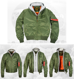 Бомбер 7,26 MA-1 Flight Jacket Cветлая олива