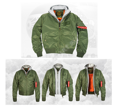 Бомбер 7,26 MA-1 Flight Jacket Olive